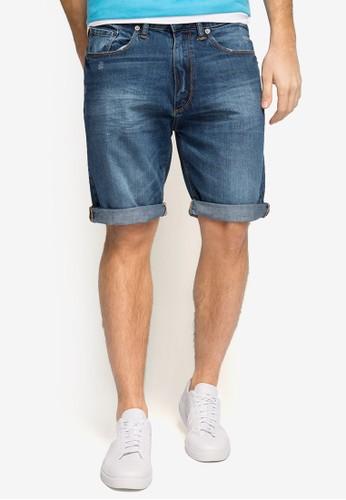 反褶丹寧短褲, 服飾, zalora退貨短褲