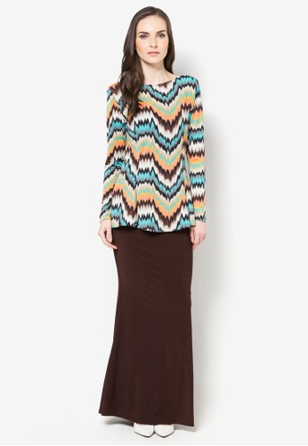 Diana Mermaid Midi Kurung from Zuco Fashion in Brown