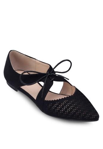 雕花側鏤空尖頭平底鞋zalora開箱, 女鞋, 芭蕾平底鞋