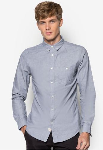 棉質長袖襯衫zalora開箱, 服飾, 素色襯衫
