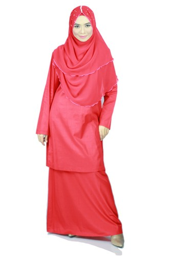 Baju Kurung Moden Ariani – Red from anisse in Red