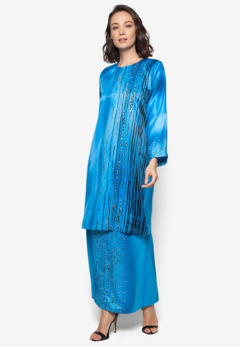 Batik Kurung from Gene Martino in Blue