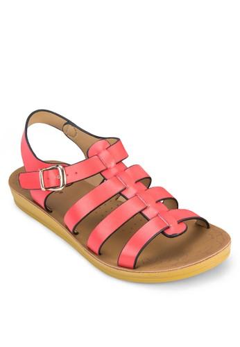 寬帶zalora鞋繞踝羅馬涼鞋, 女鞋, 涼鞋