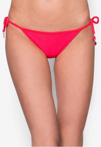 Shimmer 側繫帶素色比基尼泳zalora 鞋評價褲, 服飾, 服飾