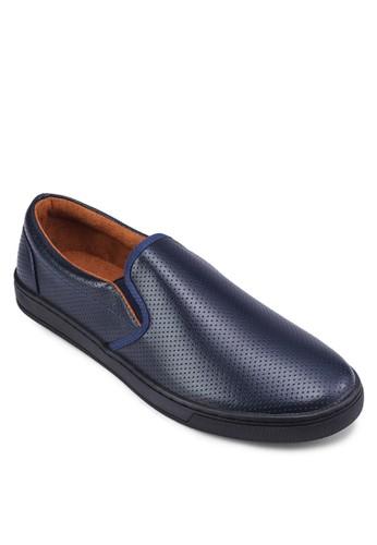 沖孔仿zalora 泳衣皮懶人鞋, 鞋, 男鞋