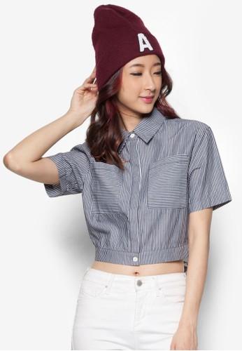 短版繫zalora退貨帶襯衫, 服飾, 服飾