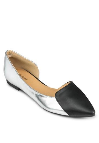 側鏤空雙色平底鞋, 女鞋, zalora 鞋評價鞋
