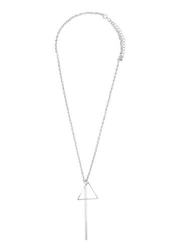 三角鐵吊飾項鍊, 飾品配件, zalora鞋項鍊
