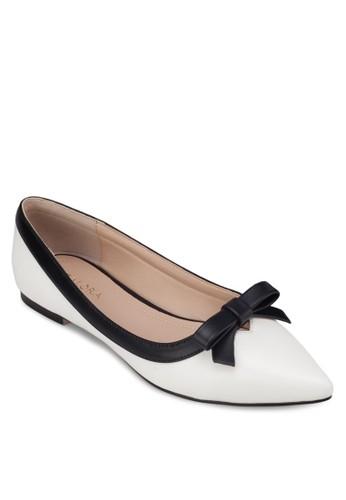 zalora 心得蝴蝶結尖頭平底鞋, 女鞋, 芭蕾平底鞋