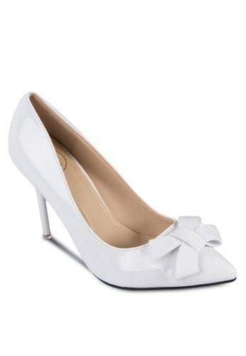PU 蝴蝶結zalora 衣服評價尖頭高跟鞋, 女鞋, 鞋