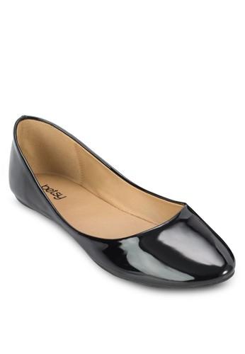 漆皮尖頭zalora 心得平底鞋, 女鞋, 鞋