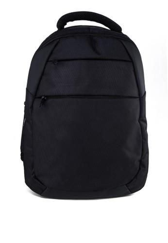 撞色內襯zalora 包包評價結構筆電後背包, 包, 電腦包
