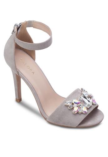 寶石踝帶高跟涼zalora 鞋評價鞋, 女鞋, 服飾