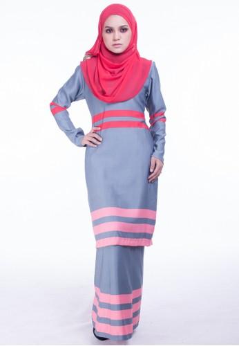 Baju Kurung Moden Jasmeen from Moodha  in Grey