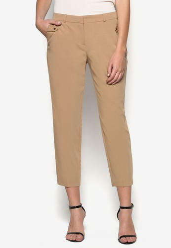 Petitezalora 心得 Camel Pocket Trouser, 服飾, 直腳褲