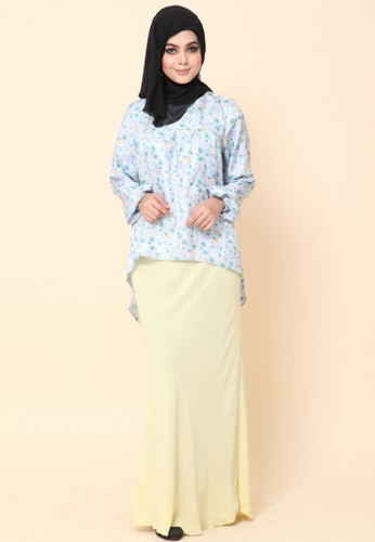Mini Kurung Fishtail Light Blue from Dirs in Blue