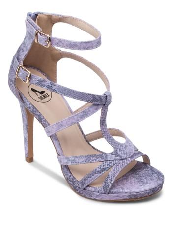 蛇紋雙踝靴高跟zalora 手錶 評價涼鞋, 女鞋, 高跟