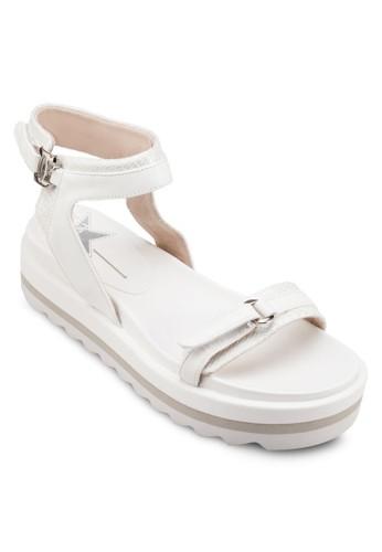 蛇zalora taiwan 時尚購物網紋三色厚底涼鞋, 女鞋, 涼鞋
