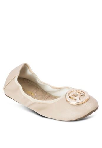 Florissa 扣環仿皮平底鞋, 女鞋, zalora退貨鞋