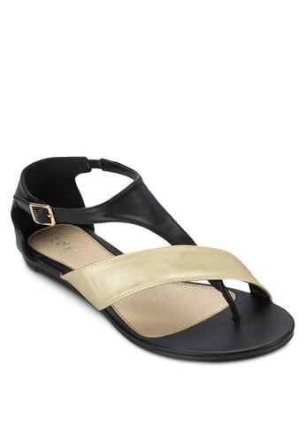 拼色帶夾腳zalora 心得包跟涼鞋, 女鞋, 涼鞋