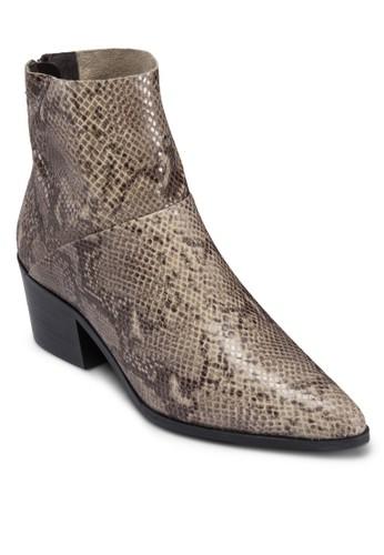 後拉topshop台灣鍊尖頭中跟皮靴, 女鞋, 鞋
