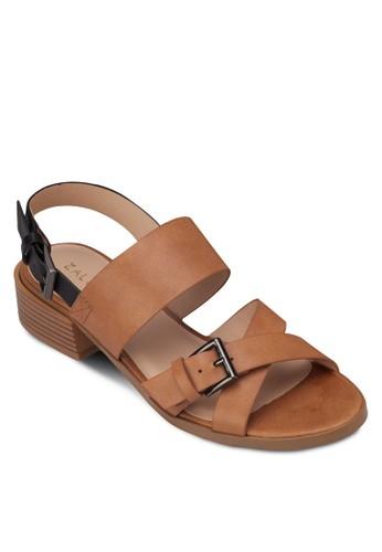 交叉寬帶繞踝粗zalora鞋子評價跟涼鞋, 女鞋, 細帶高跟鞋