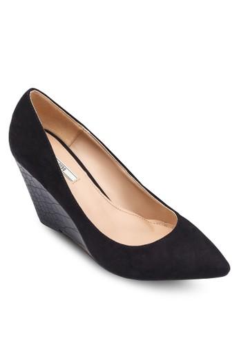 印花楔形跟尖頭鞋, zalora 心得女鞋, 鞋