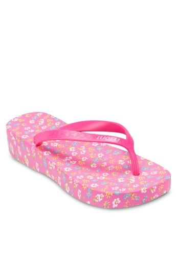 碎花厚底夾腳zalora鞋子評價拖鞋, 女鞋, 拖鞋