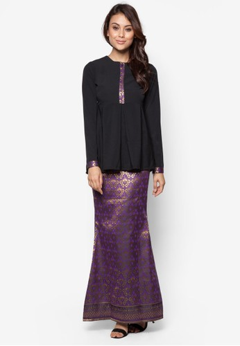 Imperial Kurung from FLEUR in Purple