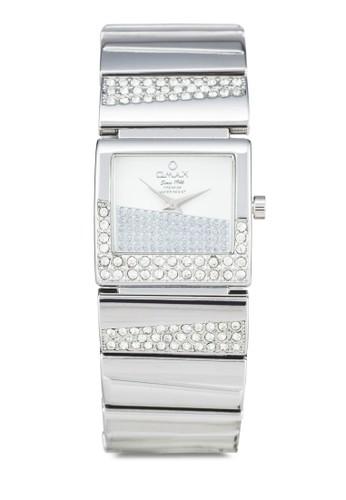 Omax OAB054S zalora 心得閃鑽不銹鋼鍊錶, 錶類, 淑女錶