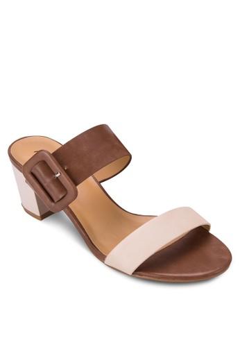 粗跟雙帶涼鞋, 女鞋, zalora鞋子評價低跟