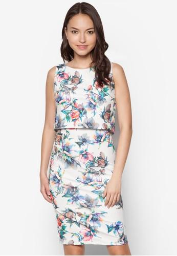 Kyra 花卉層疊洋裝zalora 台灣, 服飾, 洋裝