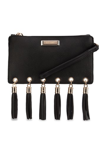 流zalora時尚購物網的koumi koumi蘇拉鍊手腕包, 包, 包
