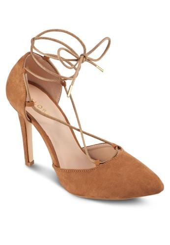 側鏤空繞踝繫帶高跟鞋, 女鞋, 厚底zalora taiwan 時尚購物網鞋子高跟鞋