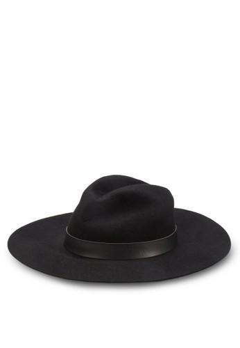 寬簷紳士圓頂zalora開箱帽, 飾品配件, 飾品配件