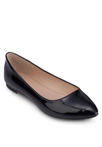 漆面尖頭平底鞋, zalora 評價女鞋, 芭蕾平底鞋