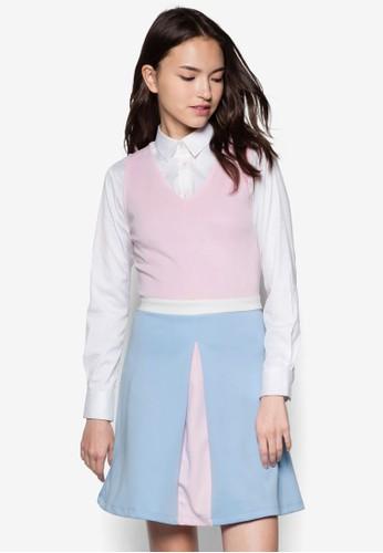 Marinzalora 評價i 撞色拼接洋裝, 服飾, 服飾