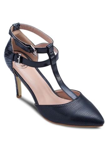 T字雙踝帶尖頭高跟鞋, 女鞋, zalora開箱細帶高跟鞋