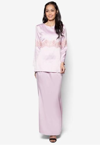 Aqaleya Kurung Moden from Aqaleya Atelier in Pink