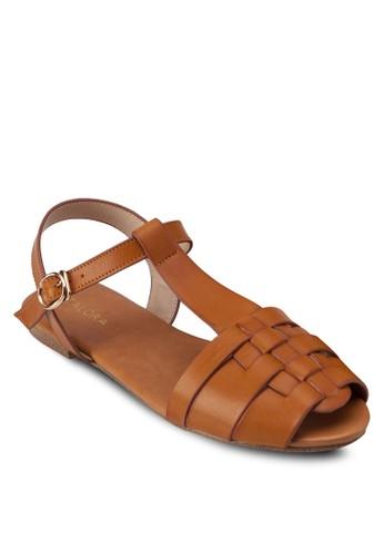編織露zalora 衣服評價趾平底涼鞋, 女鞋, 魚口鞋