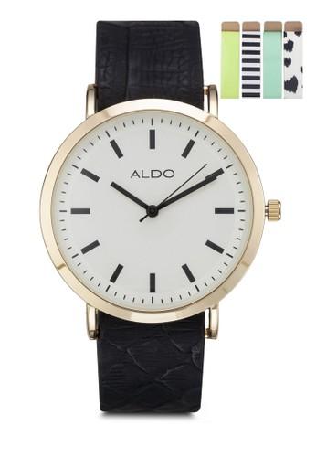 Frangipane 圓框手錶四款錶帶aldo台灣組, 錶類, 時尚型