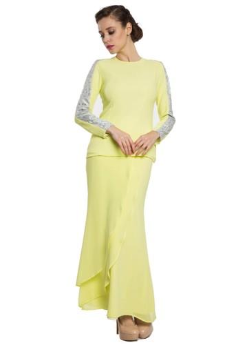 Lurna Kurung Modern from Rina Nichie in Yellow