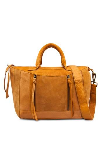 仿皮麂皮墜飾手提袋, 包zalora 鞋評價, 飾品配件