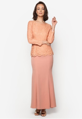 Baju Kurung Moden Lace – Vercato Daly from VERCATO in Pink