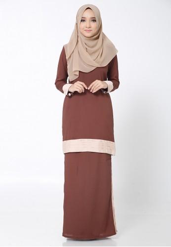 Hana Kurung Modern from Arisha in Brown
