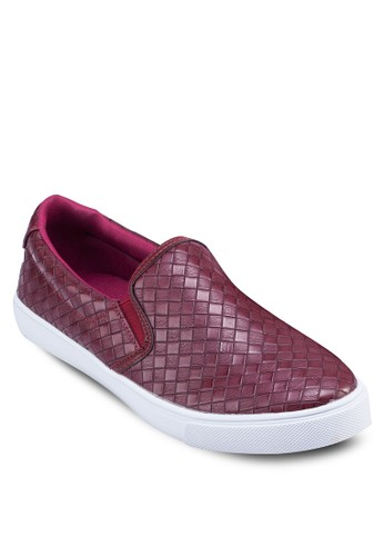 Weave Patzalora退貨terned Slip On Sneakers, 鞋, 鞋