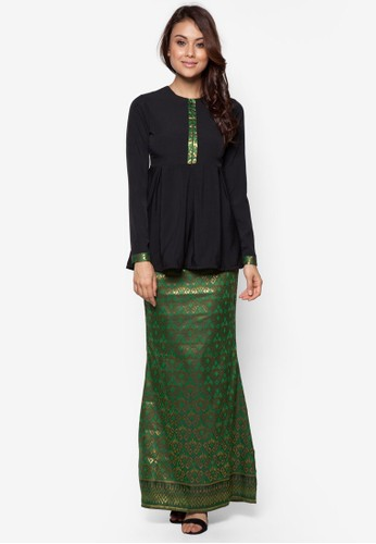 Imperial Kurung from FLEUR in Green