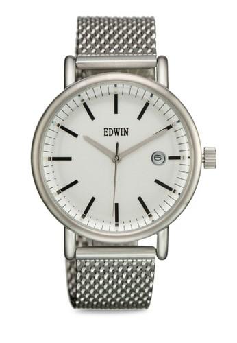 EPIC 三zalora 包包評價指針不朽感圓形錶, 錶類, 不銹鋼錶帶