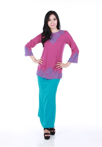 Alana Kurung Modern from La Penderie by fs in Pink and Purple