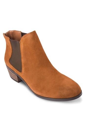 側彈zalora 鞋評價性帶低跟短靴, 女鞋, 靴子